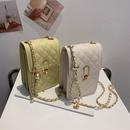 Korean chain rhomboid shoulder messenger bag NHWH337657