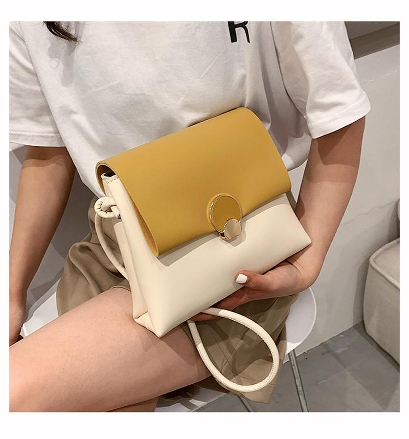 fashion metal buckle single shoulder messenger bag  NHWH337669