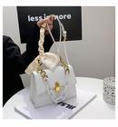 fashion acrylic chain oneshoulder messenger bag NHWH337682