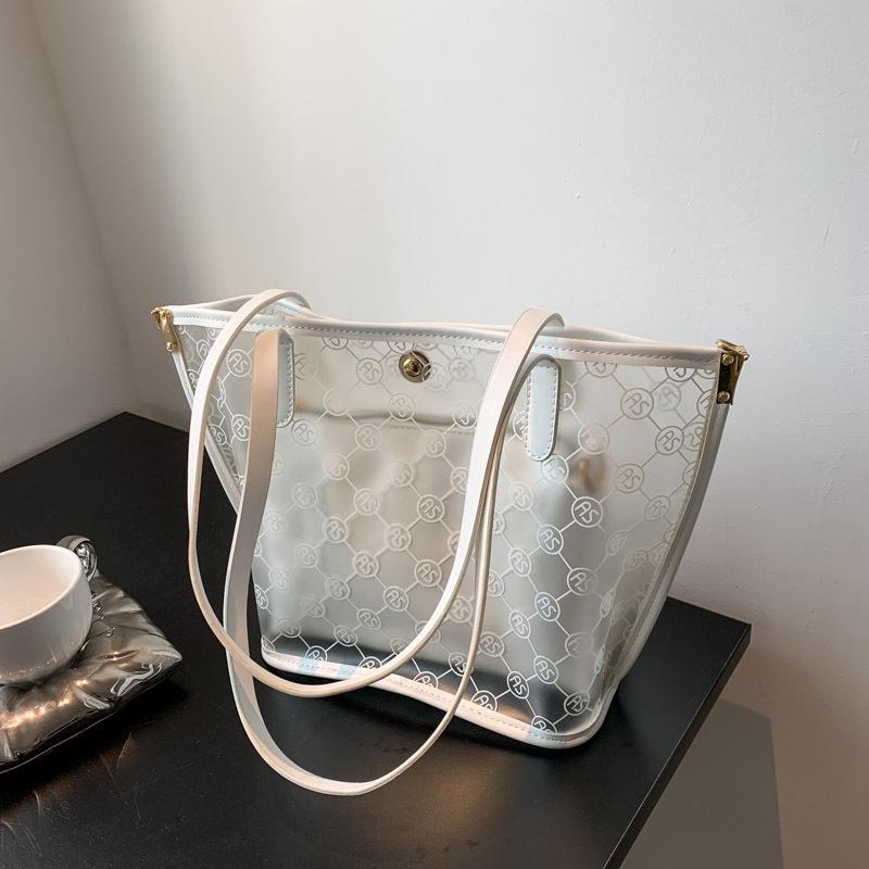 fashion transparent printing oneshoulder armpit bag  NHWH337695