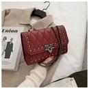 fashion chain shoulder strap rivet messenger bag   NHWH337702
