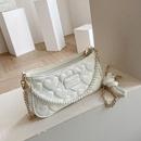 fashion pearl handle heart embossed messenger bag NHWH337696
