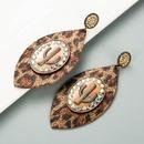 neue kreative Kaktusohrringe mit Leopardenmuster aus Leder NHLN337879