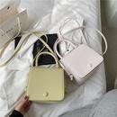 Fashion solid color shoulder messenger bag wholesale NHTG337716
