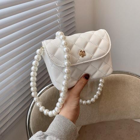 Petit sac carré en gros de messager d'épaule de chaîne de perles de losange de mode NHTG337708's discount tags