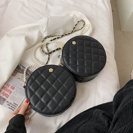 Fashion Lingge broderie fil chaîne épaule messenger petit sac rond NHTG337725's discount tags