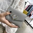 Fashion solid color heartshape wallet NHTG337752
