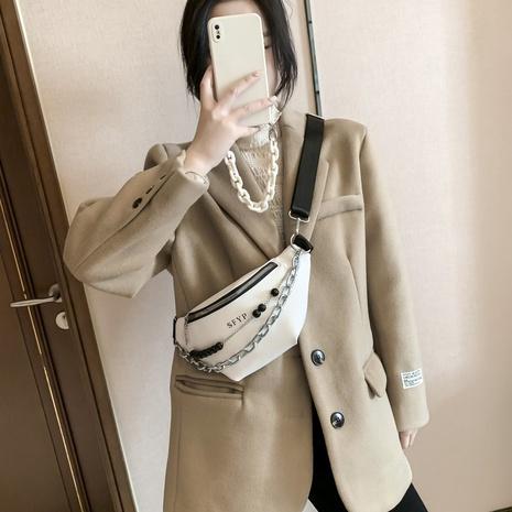 Bolso de la cintura del mensajero del hombro con cuentas de cadena coreana al por mayor NHTG337753's discount tags