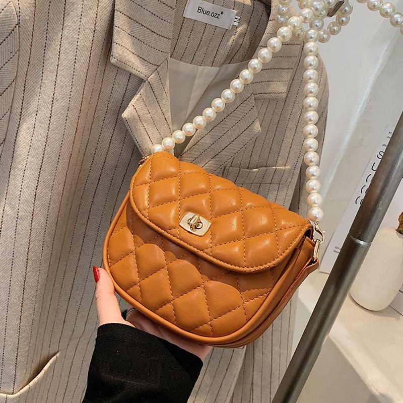 fashion pearl chain saddle bag  NHTC337780