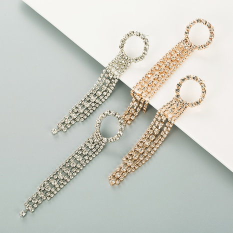 Modekreis lange Quaste Diamantohrringe Großhandel NHLN337808's discount tags