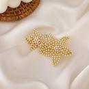 Korea Maple Leaf Pearl Colorful Rhinestone Hairpin NHMS337831