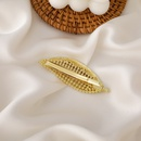 Korean pearl full diamond leaf hairpin  NHMS337833
