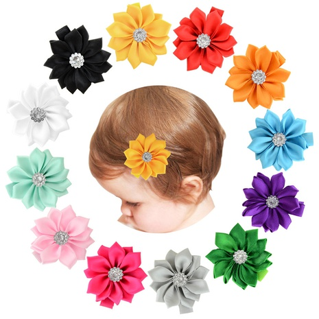 fashion multi-color polyester pointed flower hairpin NHMO337837's discount tags