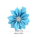 fashion multicolor polyester pointed flower hairpin NHMO337837