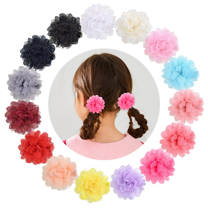 korean fashion multicolor beautiful flower hairpin NHMO337839