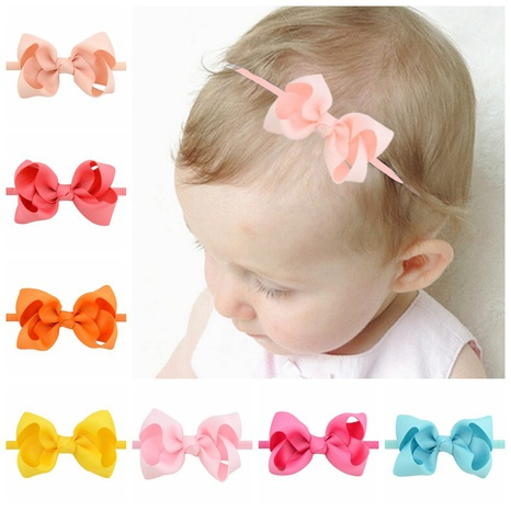 Fashion children ribbed ribbons twisted flower hairband wholesale NHMO337840's discount tags