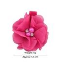 cute fashion flower pearl rhinestone chiffon hairpin NHMO337842