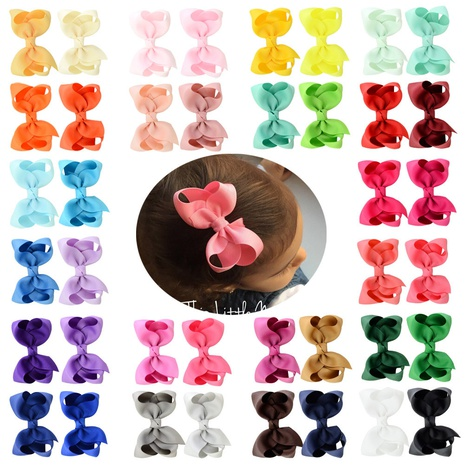 korean multi-color polyester ribbed ribbon children's bow hairpin set NHMO337844's discount tags