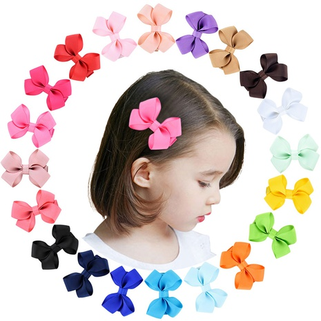 cute twisted leaf bowknot children's hairpin set NHMO337848's discount tags