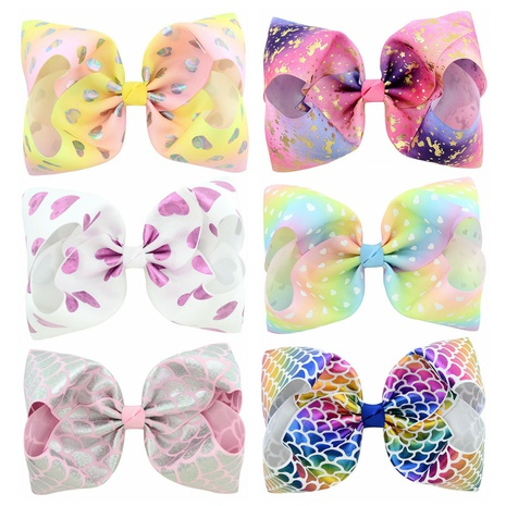 new cute colorful bow tie starry sky hairpin set  NHMO337849's discount tags