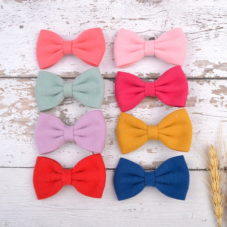 cute solid color bow hairpin set NHMO337850's discount tags