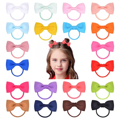 New solid color bow hair ring set NHMO337852's discount tags