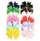 korean fashion Ribbon Bow hairpin set  NHMO337861