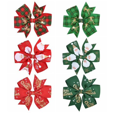 fashion colorful multi-color Christmas children's hairpins set NHMO337862's discount tags