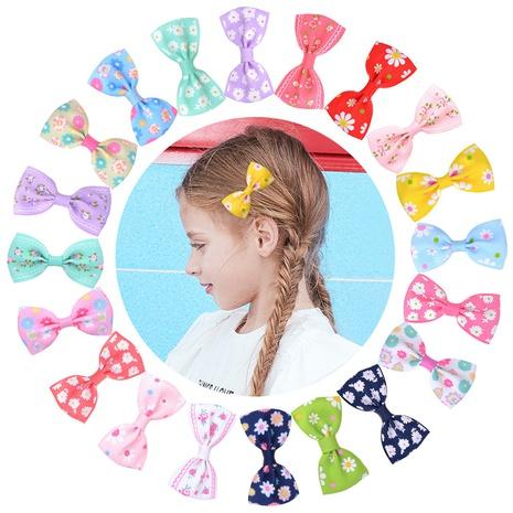 Polyester ribbed ribbon printing children's bowknot hair clip set NHMO337863's discount tags