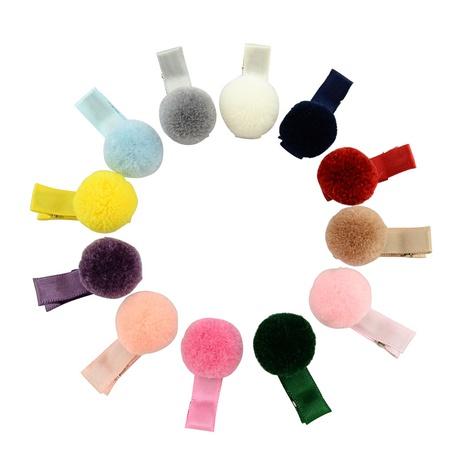 Korean fashion hair ball hairpin set NHMO337866's discount tags