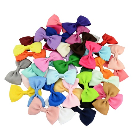 Colorful solid color children's bow tie cute hairpin set NHMO337864's discount tags
