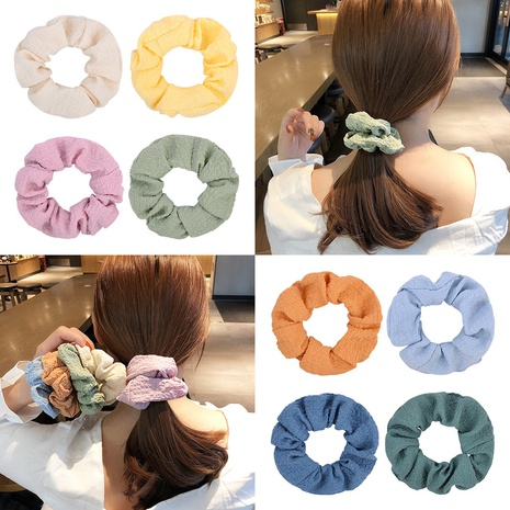 retro solid color circle ball hair scrunchies set NHMO337868's discount tags