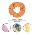 Retro einfarbig Kreis Ball Haar Haar Haargummis Set NHMO337868