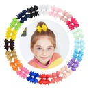 hot selling multicolor childrens solid color bow hairpin set NHMO337869