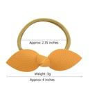 new style sweet leather bow hair ring set  NHMO337873