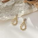 simple pearl dropshaped flower earrings  NHWB338045