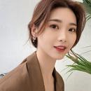 Korean geometric large pearl earrings NHWB338055