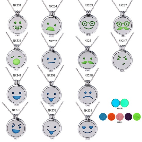 Mode Smiley Gesicht handgemachte leuchtende Halskette Großhandel NHAN338088's discount tags