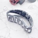 Korean new crescent black white striped hairpin NHHER338109