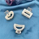 simple geometric metal clip bow heartshaped hair clip NHHER338120