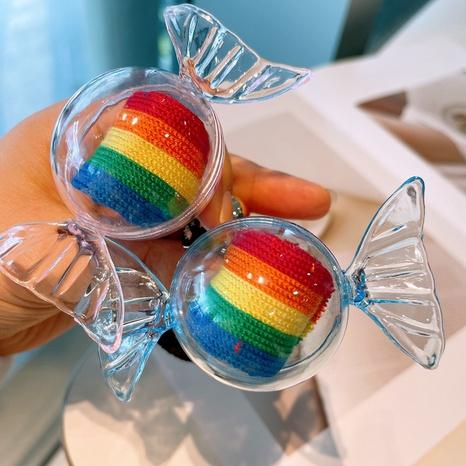 niedliche Süßigkeiten Regenbogenbogen Haarring NHHD338137's discount tags