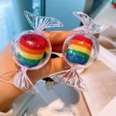 cute candy rainbow bow hair ring  NHHD338137
