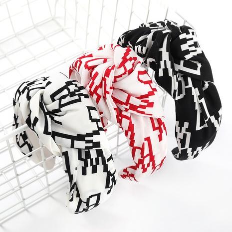fashion contrast color stripe fabric headband  NHJE338151's discount tags