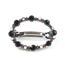 oval alloy diamondstudded acrylic hairpin NHJE338156