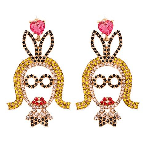 Mode Legierung Diamant besetzte Acryl Ohrringe Großhandel NHJJ338180's discount tags