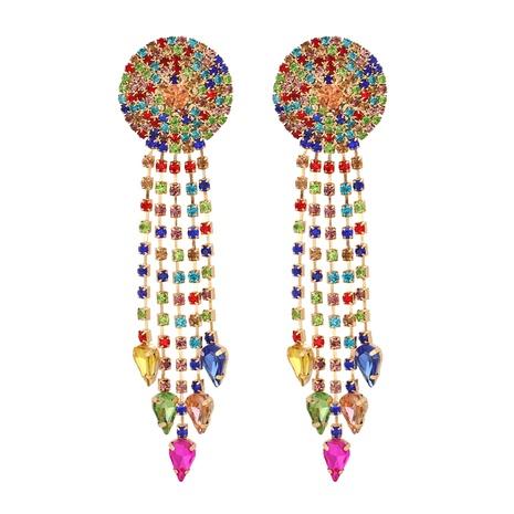 Mode Diamant Quaste Legierung Ohrringe Großhandel NHJJ338182's discount tags
