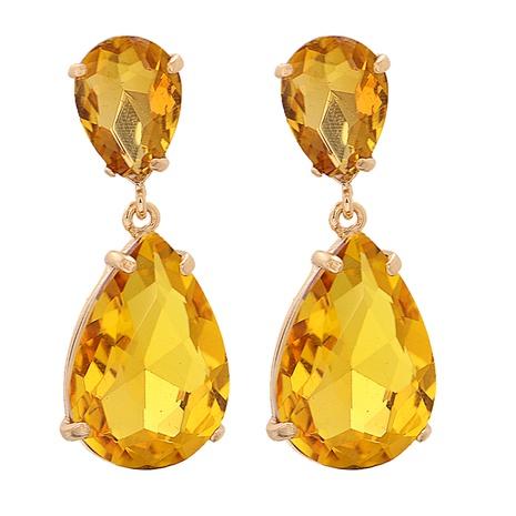 Einfache geometrische Diamant-Tropfenohrringe im Großhandel NHJJ338183's discount tags