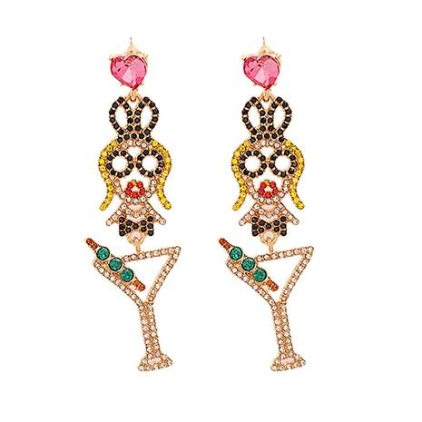 Diamantbesetzte Acryl-Ohrringe aus modischer Legierung NHJJ338184's discount tags