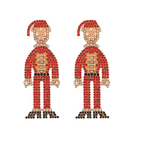 Diamantbesetzte Acryl-Weihnachtsmannohrringe aus modischer Legierung NHJJ338186's discount tags