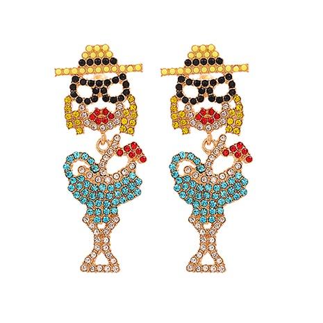 Mode Diamant besetzte Acryl Ohrringe Großhandel NHJJ338187's discount tags